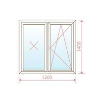 Пластиковое окно 1200х1400 - Magazin Okon