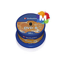 VERBATIM DVD-R 4,7Gb 16x Cake 50 pcs