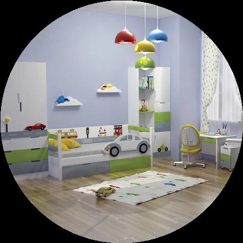 Детские комнаты для мальчиков