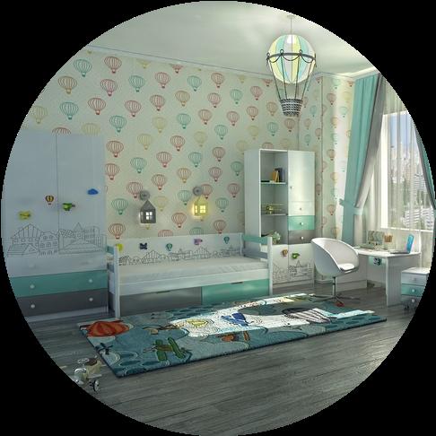Детские комнаты unisex