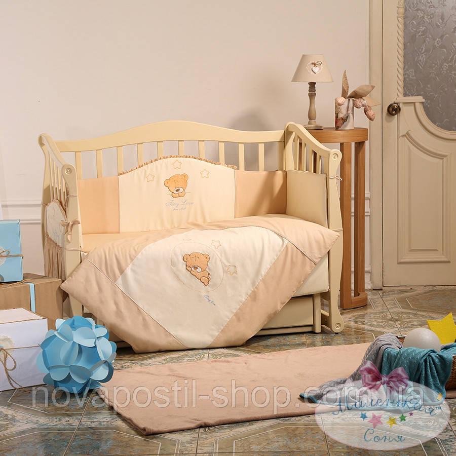 Набор в детскую кроватку Tiny Love шоколадный (6 предметов)