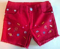 """Шорты детские джинсовые """"Конфетка"""", малиновые, р.4 (92 см)"""