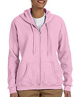 Кофта Gildan® Heavy Blend™ Full Zip Hooded Sweatshirt Light Pink