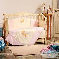 Набор в детскую кроватку Tiny Love розовый (6 предметов), фото 1