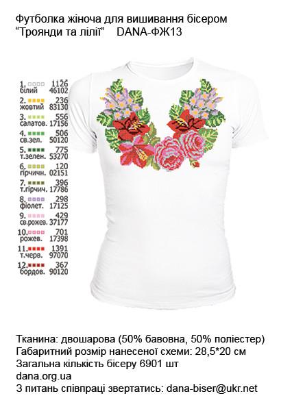 Розы и лилии. Размер XS