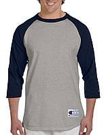 Лонгслив Champion Raglan Baseball 3/4 SleeveTee Oxford Grey Navy