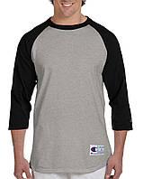 Лонгслив Champion Raglan Baseball 3/4 SleeveTee Oxford Grey Black