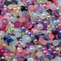 Жемчуг для дизайна ногтей, цветной, 100 штук