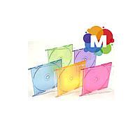 Бокс CD-1 Slim цветной (микс 5 цветов) 50 шт/уп