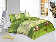 Семейный набор постельного белья «Зеленая бабочка»