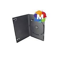 Бокс DVD-1 диска 9 мм черный глянцевый