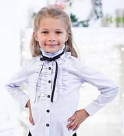 Нарядная  школьная блуза с длинным рукавом .