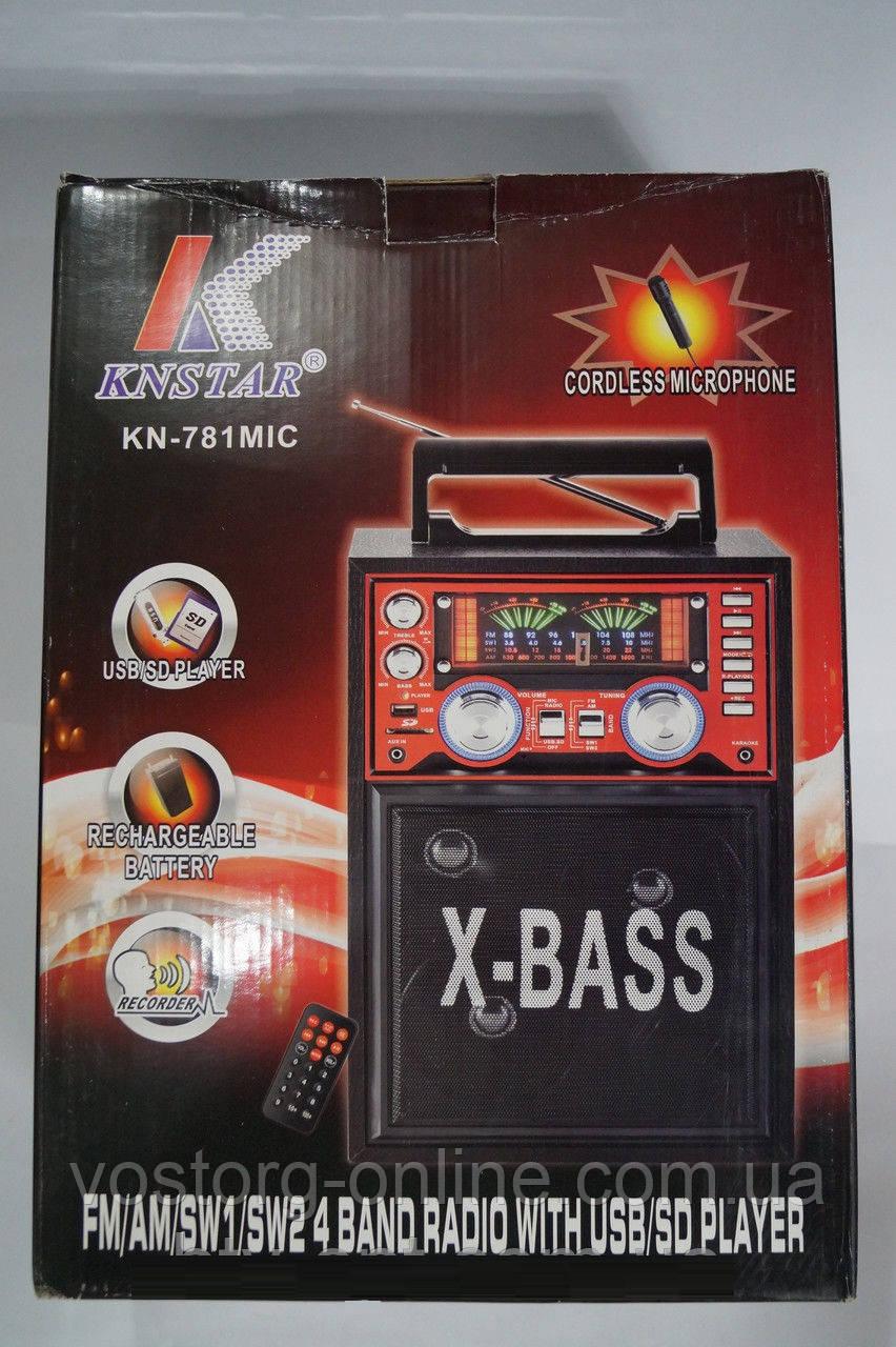 b01e12edf9d1 Портативная колонка SD USB KN-781 karaoke, портативная акустика, колонка  караоке,