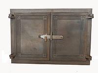 Двухстворчатая чугунная печная дверца Dunántúl 46,5х34 см-45х30см