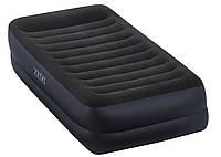 Надувная велюр кровать Intex 191х99х42 см со встроенным насосом