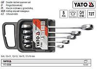 Набор ключей накидних YATO ключів тріщатка М 8-19 5 штук YT-5038