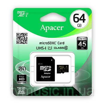 Карта памяти Apacer microSDXC UHS-I 64GB Class 10