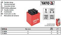 Набор трафаретов клейма цифрові h=6 мм 9шт YATO-6854