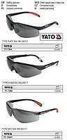 Очки окуляри захисні відкриті затемнені YATO-7364
