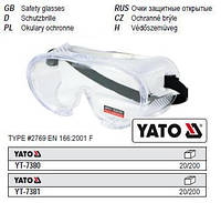 Очки окуляри захисні прозорі YATO-7381