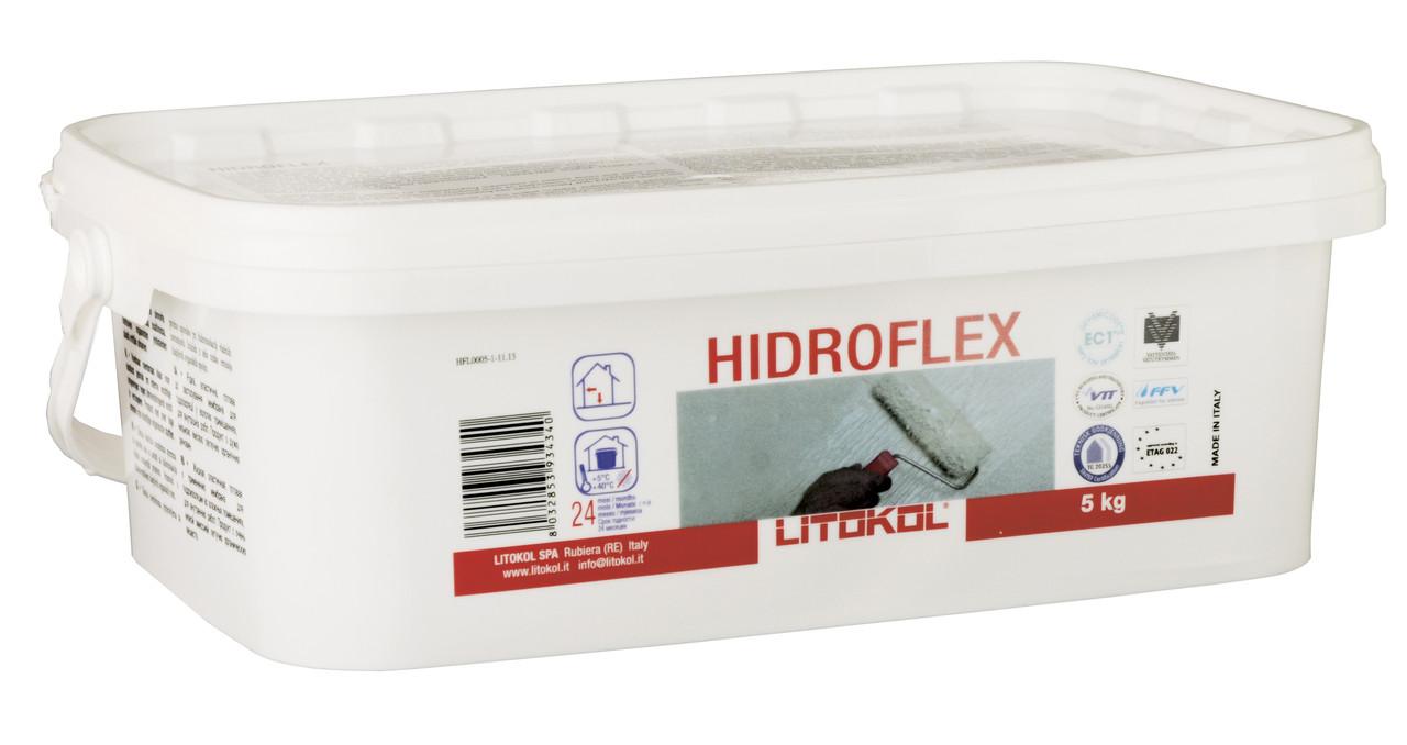 Litokol Hidroflex (гидрофлекс) 5 кг - гидроизоляция литокол готовая однокомпонентная (внутр) - BMQ строительный маркет  в Киеве
