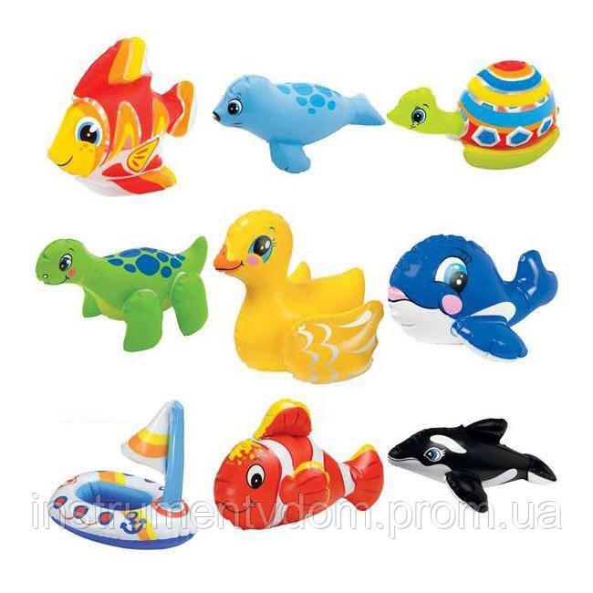 """Детская надувная игрушка INTEX 58590 """"Звери"""" (15х20 см)"""
