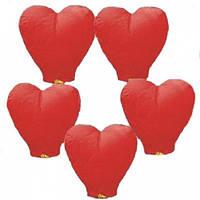 Китайский летающий фонарик - сердце