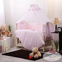 Набор в детскую кроватку Golden нежно-розовый(7 предметов), фото 1