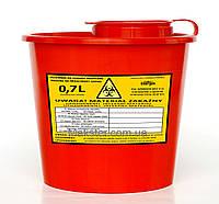 Емкости для сбора и утилизации медицинских отходов 0.7L