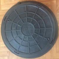 Люк канализационный 770мм пластиковый 2т черный