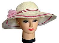 Женская шляпка лён