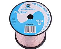 Акустический кабель CABLETECH 2х4.0mm CCA (100м)
