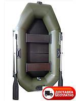 Надувная лодка Omega 220LSТ  (поворотные уключины+слань коврик и навесной транец)