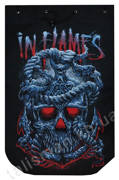 IN FLAMES (череп) - рок-рюкзак