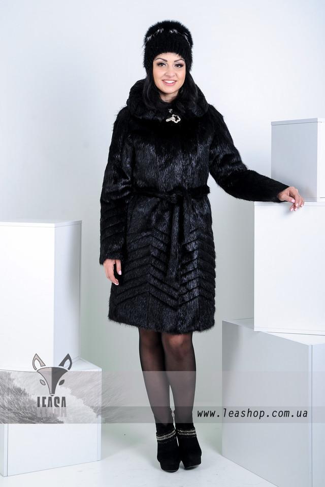 Стильная шуба из нутрии интернет магазин  www.leashop.com.ua
