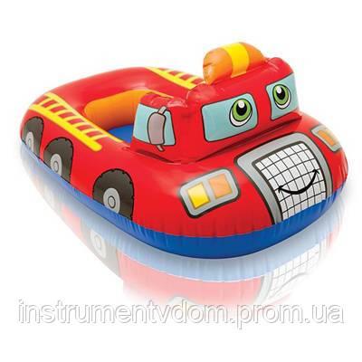 """Детский надувной плотик INTEX 59380 """"Пожарная машина"""" (102х66 см)"""