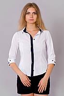 Женская классическая деловая белая блуза.