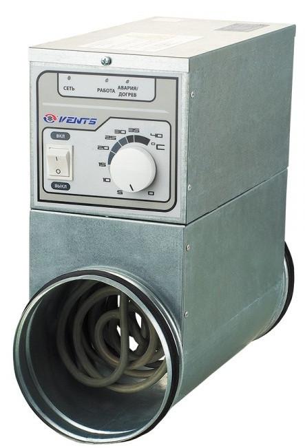 ВЕНТС НК-250-9,0-3 У - круглый электрический нагреватель