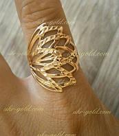 Золотое кольцо женское без камней.