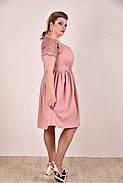 Женское платье  на лето 0286-2 цвет персик до 74 размера / больших размеров для полных женщин, фото 2
