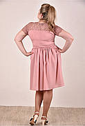 Женское платье  на лето 0286-2 цвет персик до 74 размера / больших размеров для полных женщин, фото 3