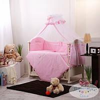 Набор в детскую кроватку Golden розовый (7 предметов), фото 1