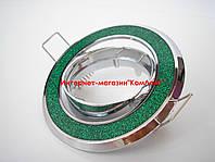 Точечный светильник встраиваемый CTC-B 1159 цвет хром+зеленый