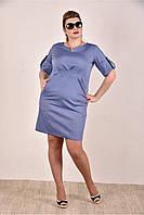 Женское джинсовое платье  на лето 0285-3 до 74 размера / больших размеров для полных женщин
