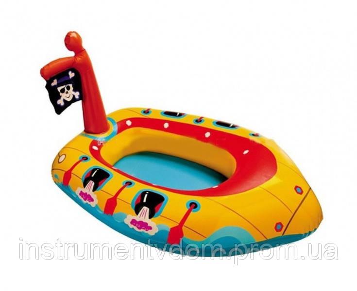 """Детский надувной плотик INTEX 59380 """"Пиратская лодка"""" (102х66 см)"""