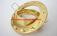 Точечный светильник встраиваемый СТС-1118 цвет сатиновое золото+золото