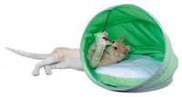 Домик для кота Trixie Neva с игрушкой 38*40см зеленый/белый 36350)