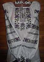 Вышитая крестиком женская блузка