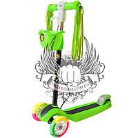 Самокат детский 3-х колёсный BavarSport Perfect Злёный
