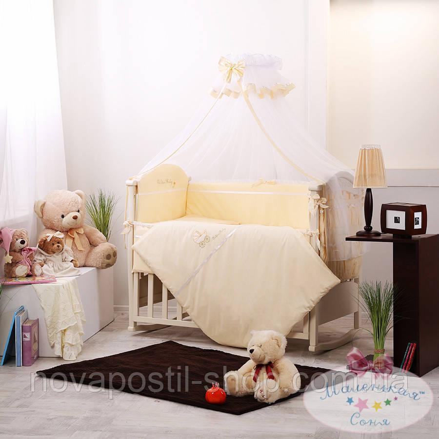 Набор в детскую кроватку Golden желтый (7 предметов)